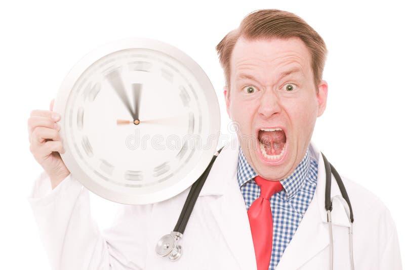 Temps médical frustrant (la montre de rotation remet la version) image libre de droits
