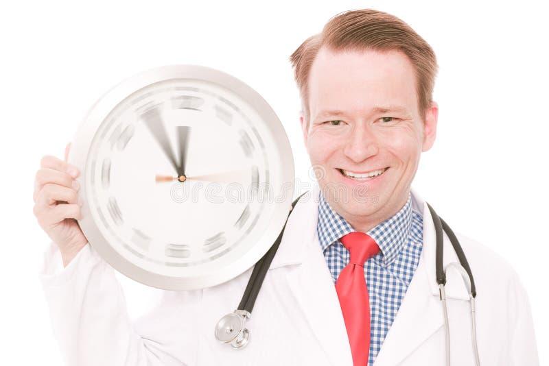 Temps médical heureux (la montre de rotation remet la version) images stock