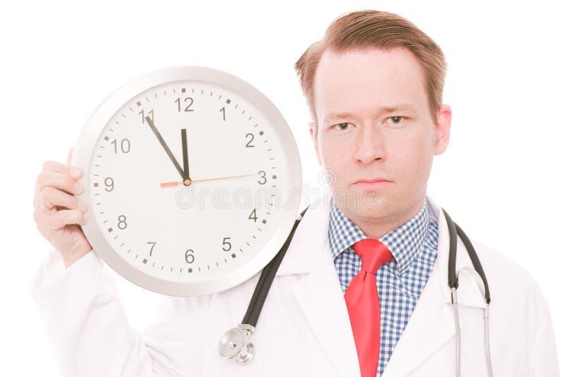 Temps médical sérieux images stock