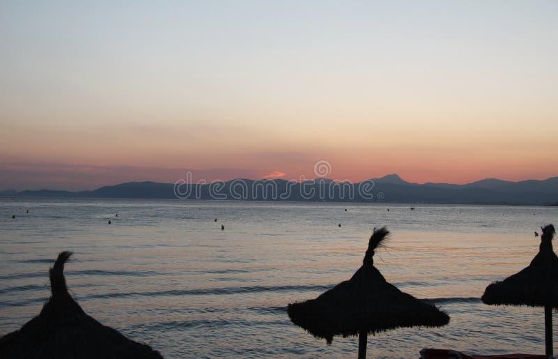 Temps Majorque de coucher du soleil photographie stock libre de droits