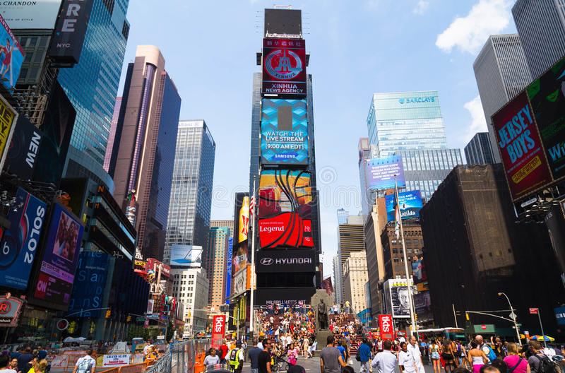 Temps New York carré photographie stock