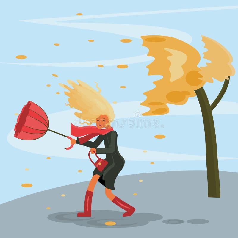 Temps orageux d'automne illustration stock