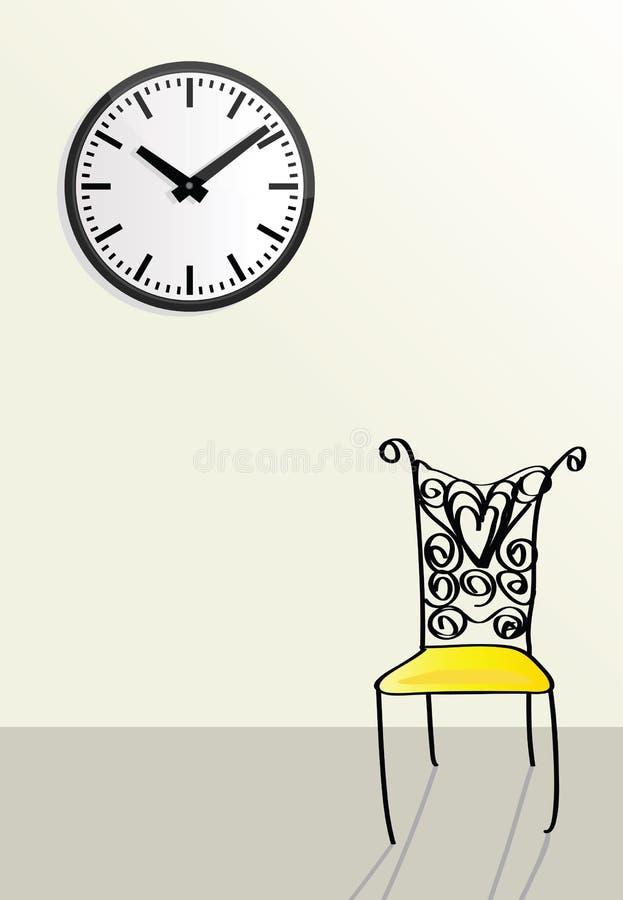 Temps passant, concepts de attente illustration stock
