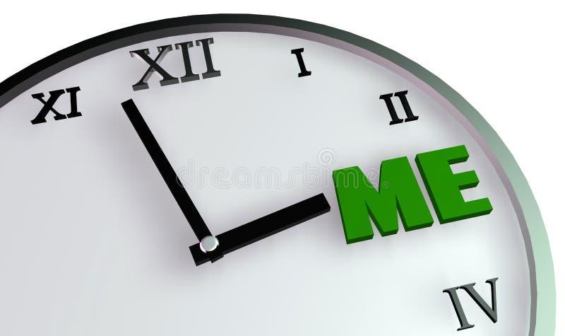 Temps personnel illustration stock