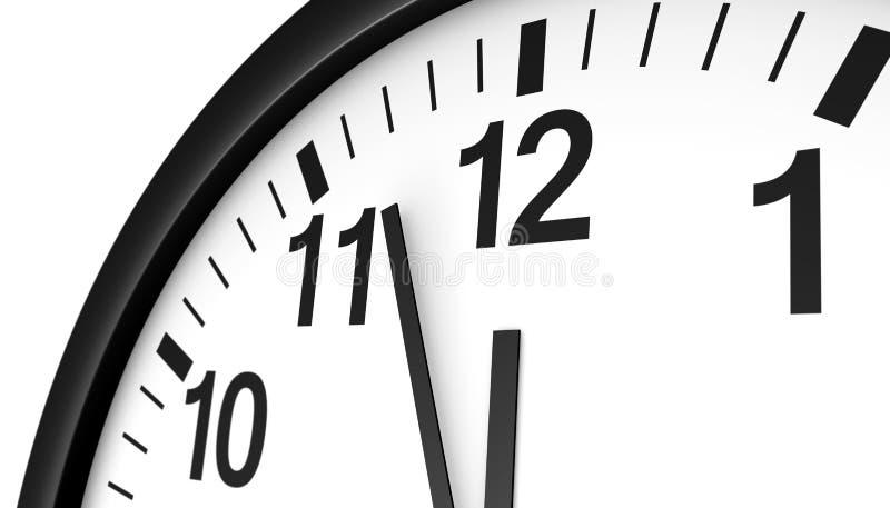 Temps presque de minuit d'horloge illustration libre de droits