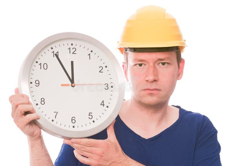 Temps sérieux de bâtiment images stock