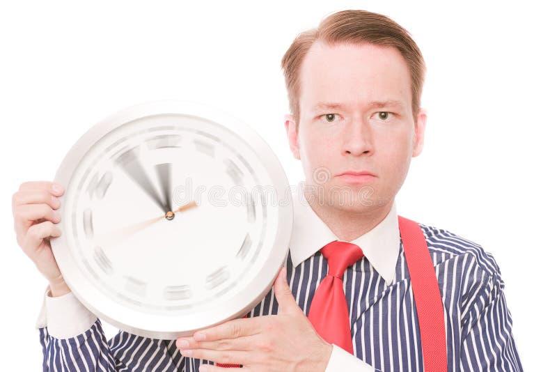 Temps sérieux (la montre de rotation remet la version) photo stock