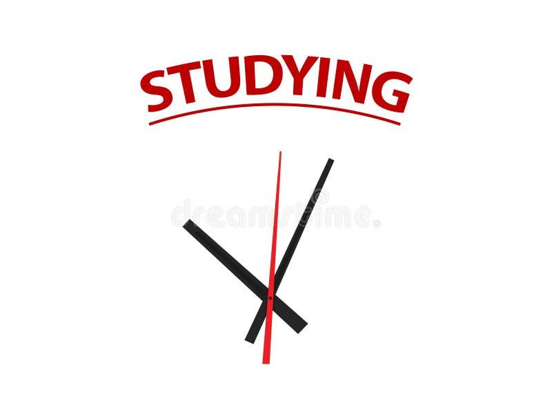 Temps sur l'étude image stock