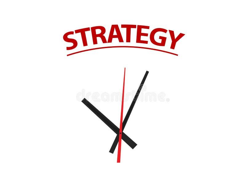 Temps sur la stratégie image stock