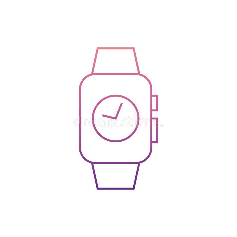 temps sur le watchesicon futé en style de Nolan Un de l'icône de collection de Web peut être employé pour UI, UX illustration stock