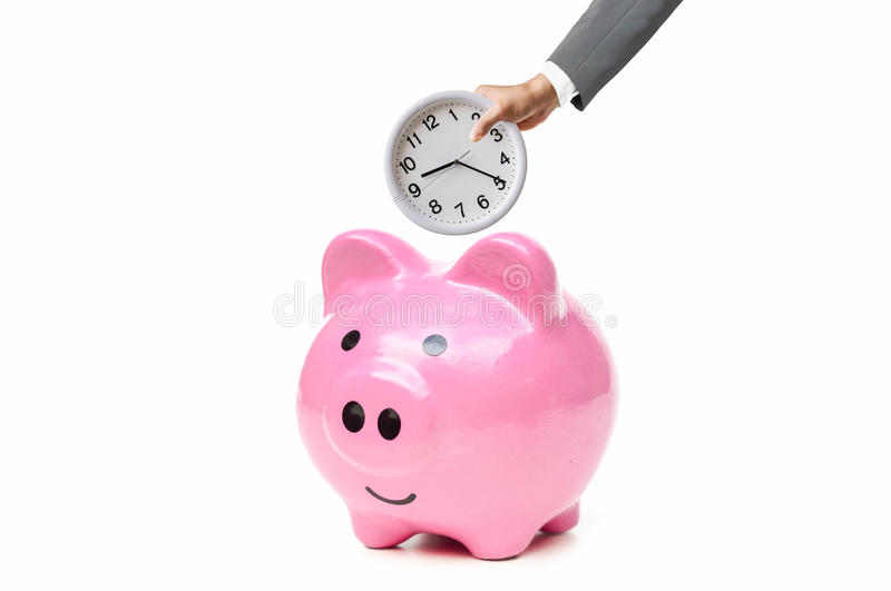 Temps - un argent photographie stock