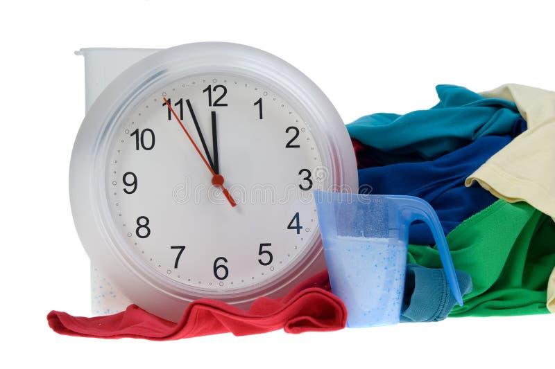 Temps - vêtements pour la blanchisserie photographie stock libre de droits