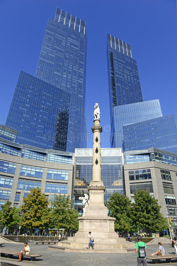 Temps Warner Center dans NYC image stock