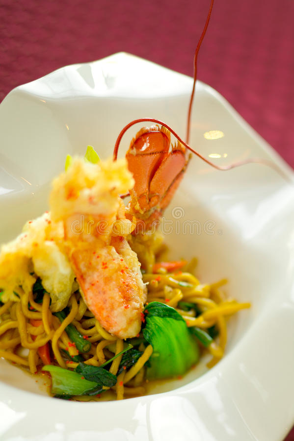 tempura макаронных изделия омара стоковые изображения