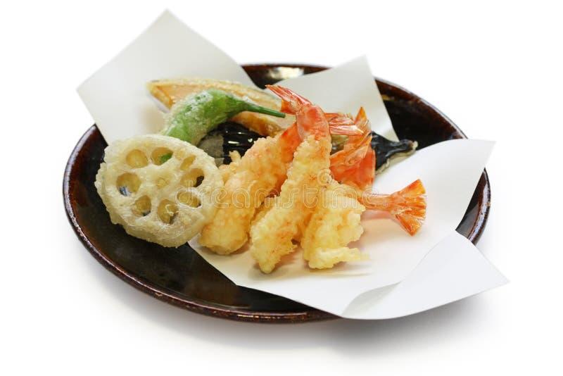 Tempura, alimento japonés fotografía de archivo