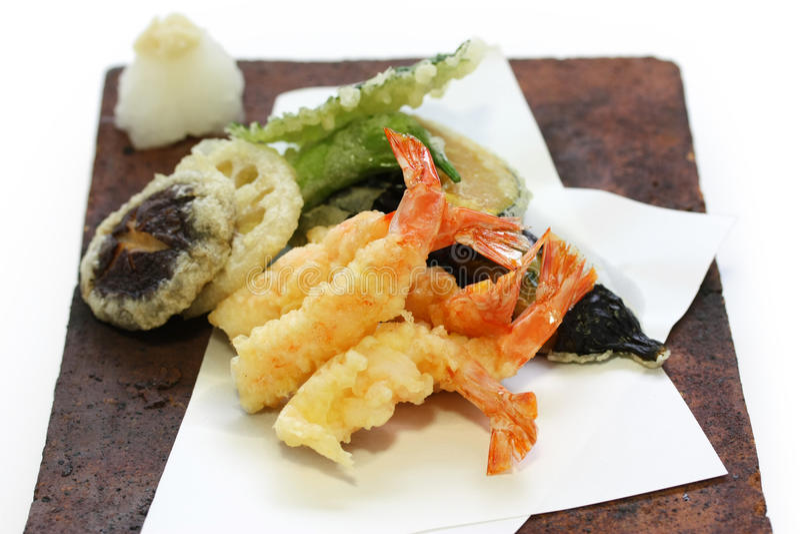 Tempura, alimento japonés foto de archivo libre de regalías