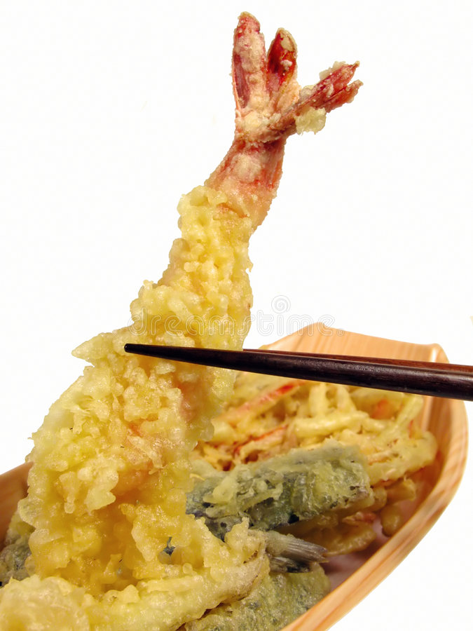 Download Tempura in chopsticks stock photo. Image of dish, vegetables - 624502