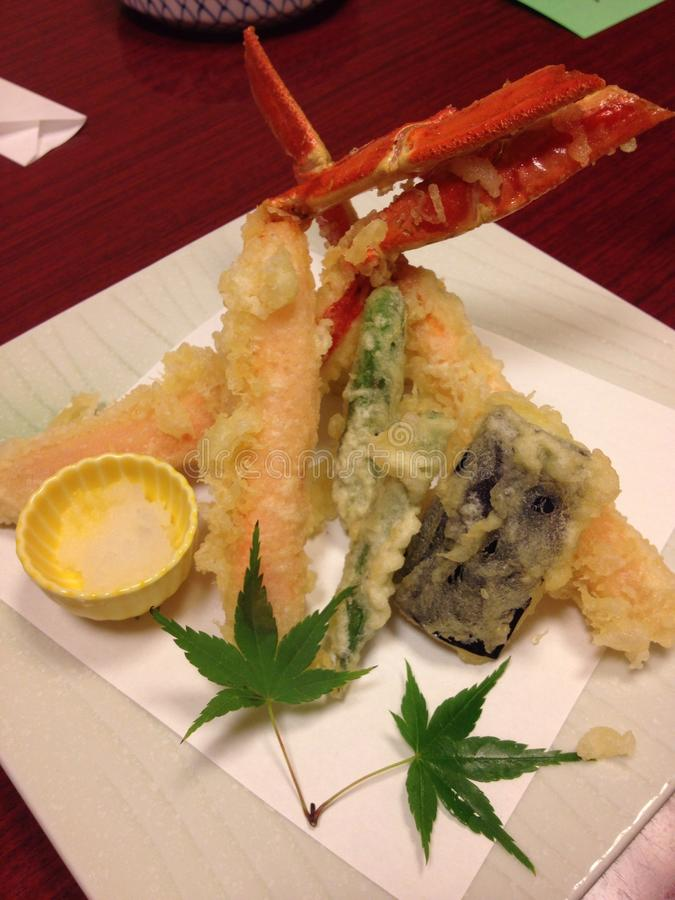 Tempura de crabe photos stock