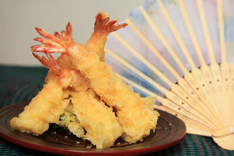 Tempura do camarão fotos de stock