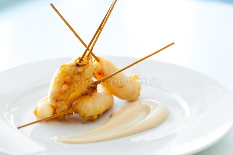 Tempura do camarão. foto de stock