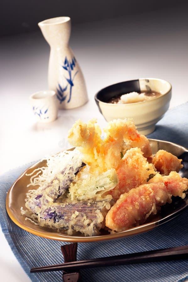 Tempura giapponese fotografia stock libera da diritti
