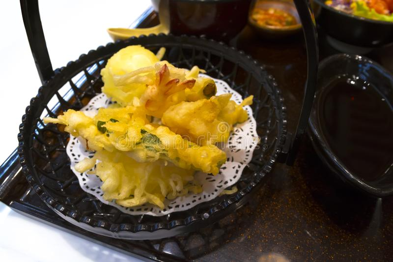 Tempura giapponese dell'alimento fotografia stock libera da diritti