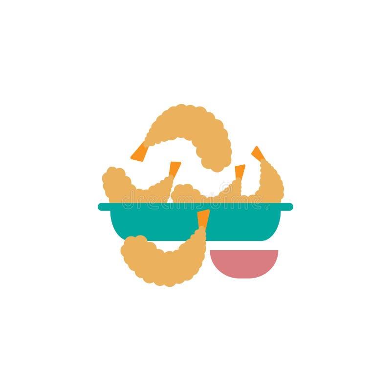 Tempura icona Elemento dell'icona internazionale dell'alimento di colore Icona premio di progettazione grafica di qualit? Segni  royalty illustrazione gratis