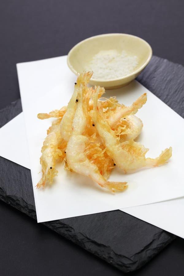 Tempura japonés del camarón, shiroebi imágenes de archivo libres de regalías