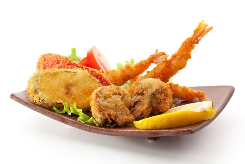 Tempura-Lebensmittel lizenzfreies stockfoto