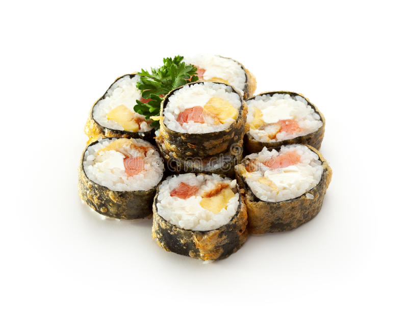 Tempura-Sushi stockfotos