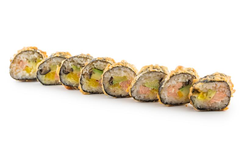 Tempurasushi maki japanisches traditionelles Lebensmittel stockfoto