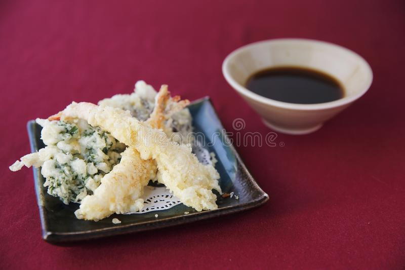 Tempurauppsättning, japansk mat arkivbilder