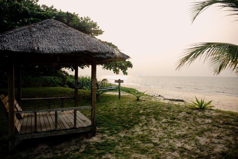 Tempurung Seaside Lodge Cabana stock image