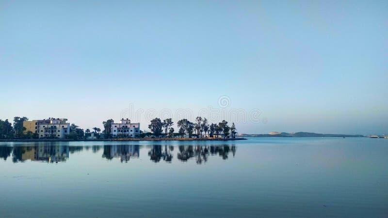 Temsah lake .. Ismailia, Egypt stock image
