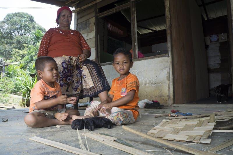 Temuans, eine von eingeborenen Völkern von Malaysia lizenzfreies stockbild