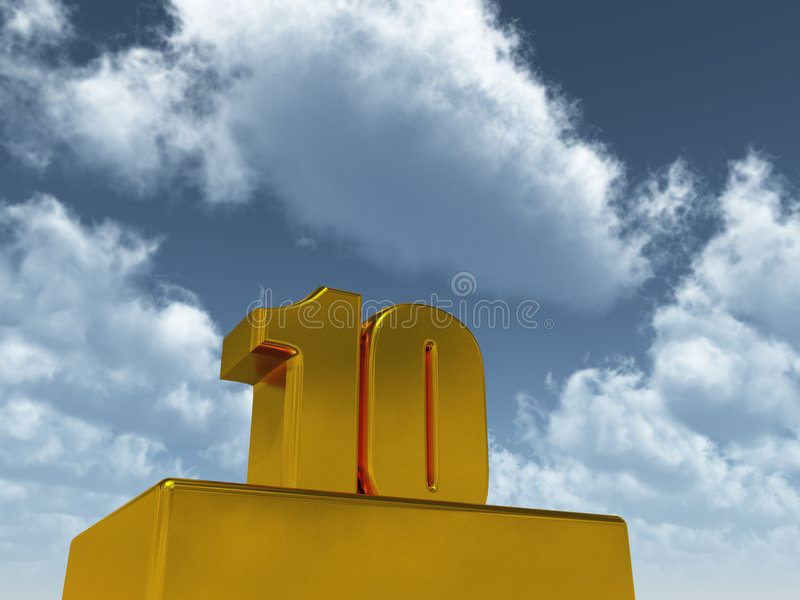 Download Ten stock illustration. Image of birthday, party, number - 9299383