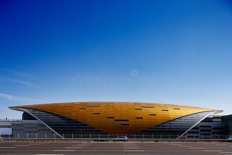 Ten armadyl struktura jest Dubaj stacją metru zdjęcia royalty free