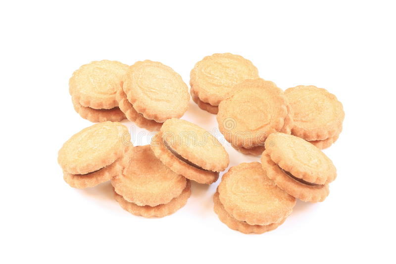 Ten biscuits royalty free stock images