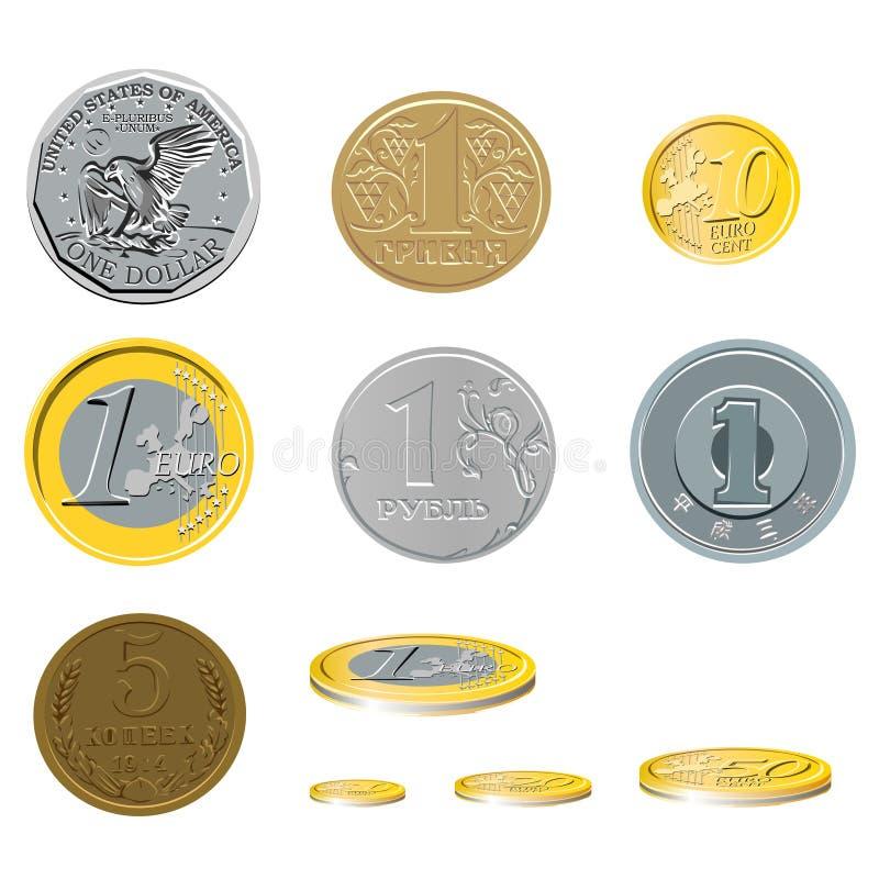 Ten coins royalty free illustration