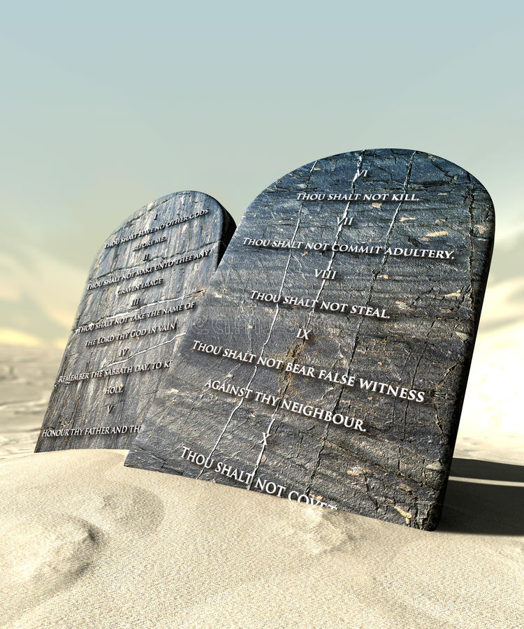 Download Ten Commandments Standing In The Desert Royalty Free Stock Image - Image: 26838046