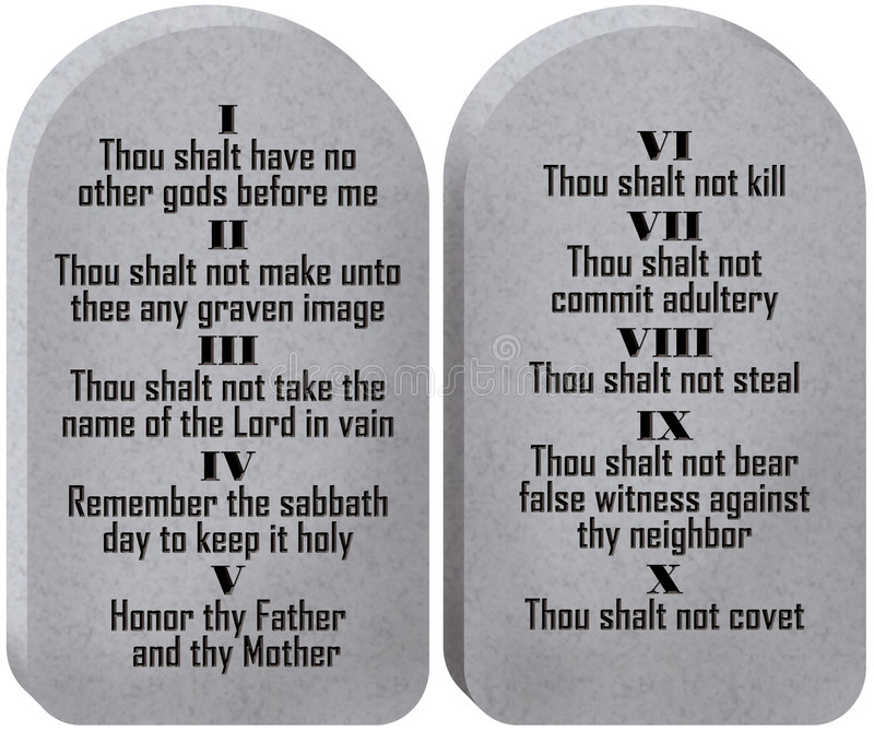 Ten Commandments Tablets vector illustration