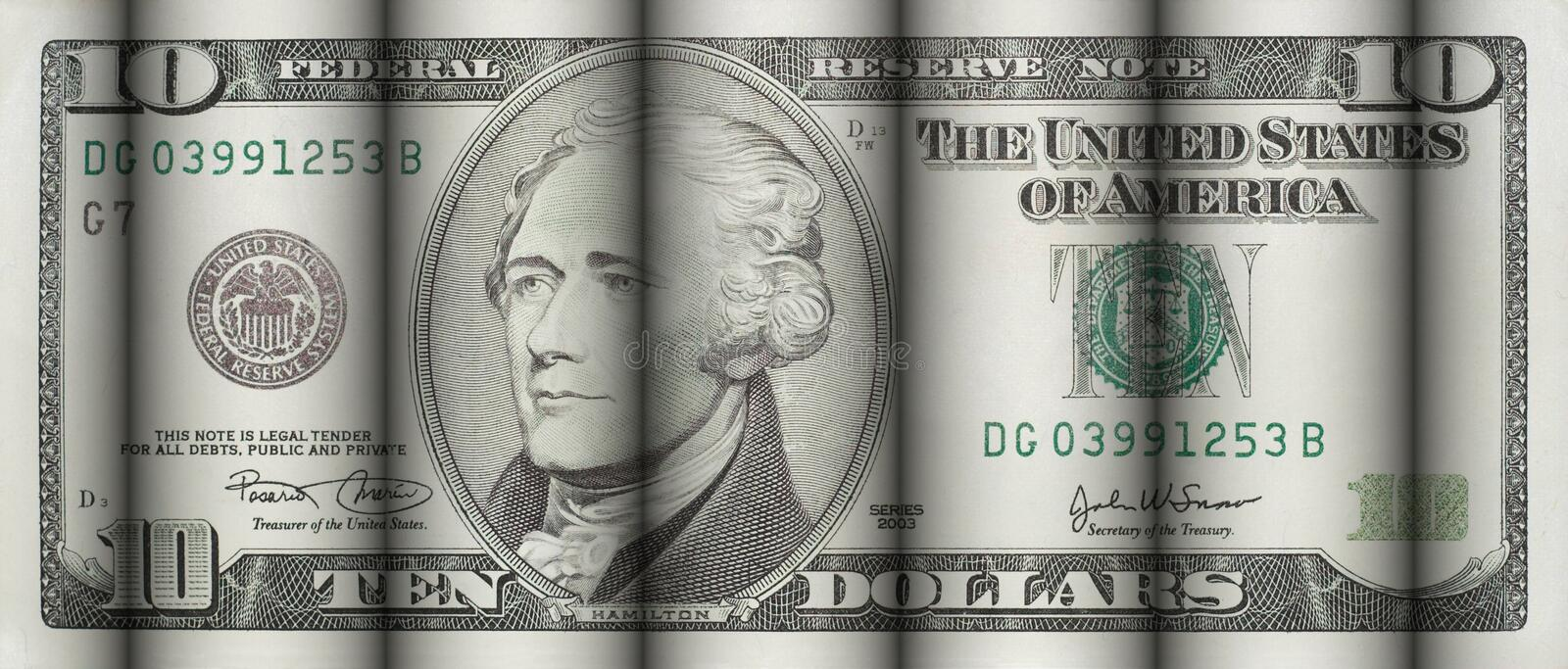 Download Ten Dollars Bill stock image. Image of payment, cloth, seal - 440099