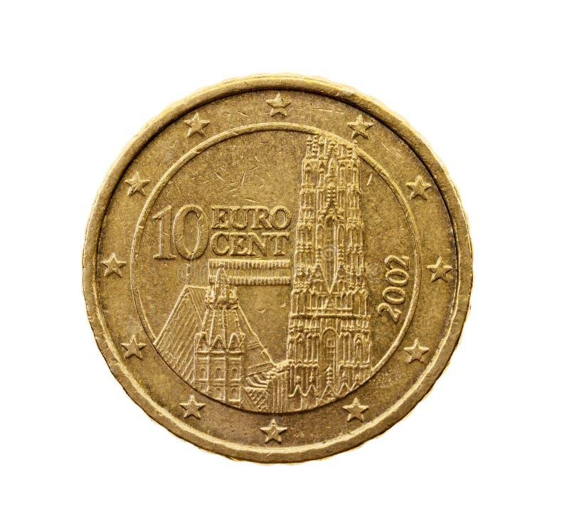 Ten euro cents royalty free stock image
