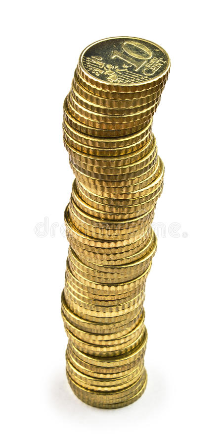Download Ten euro cents tower stock image. Image of money, cent - 22091481