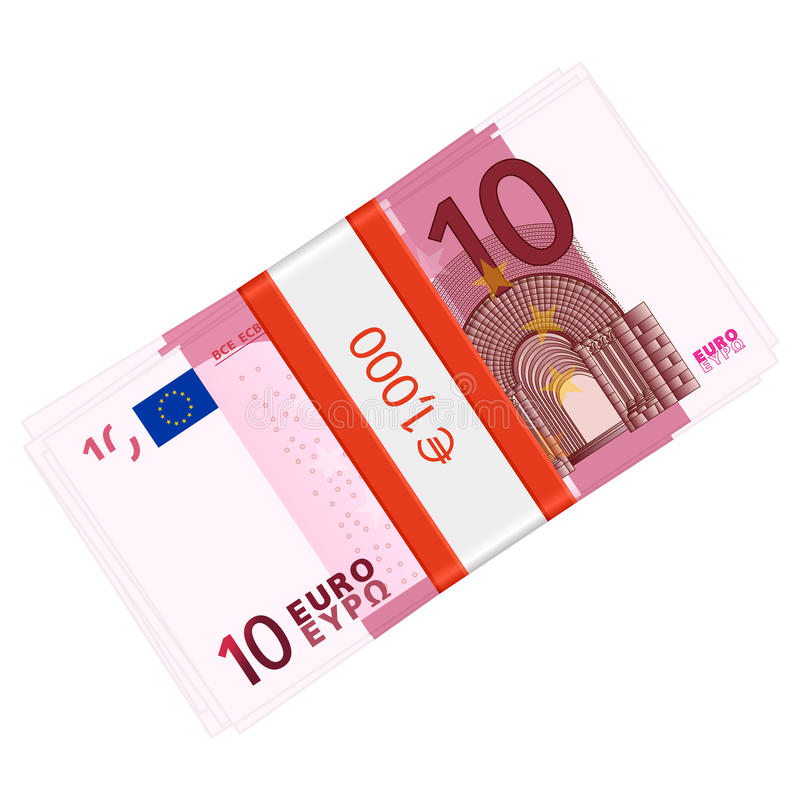 Download Ten euro pack stock vector. Image of finance, cash, vector - 30629536