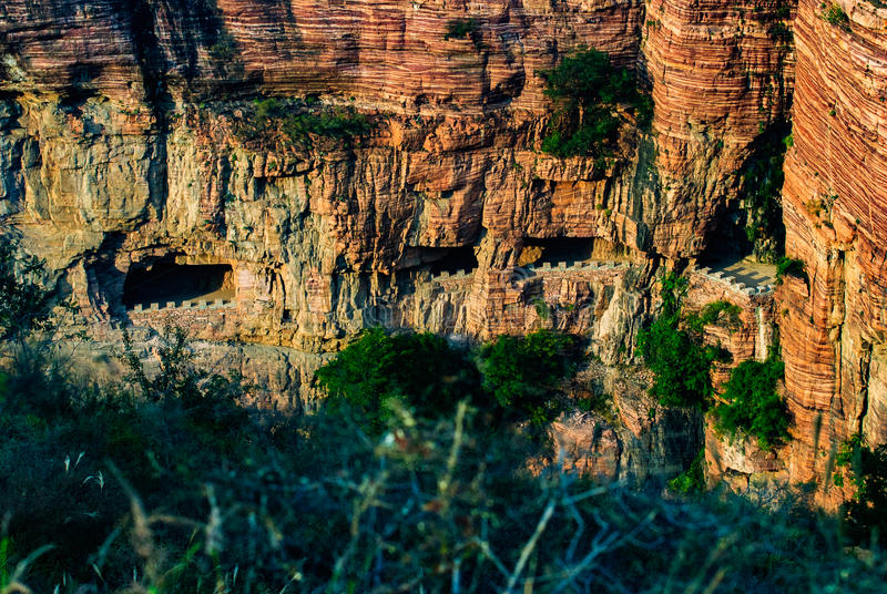Ten gorge ditch ditch village China no day gorge in Hebei province Xingtai City Wall Road royalty free stock images