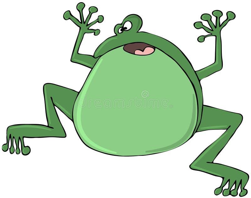 Download Zielona żaba ilustracji. Obraz złożonej z przestraszony - 29711696