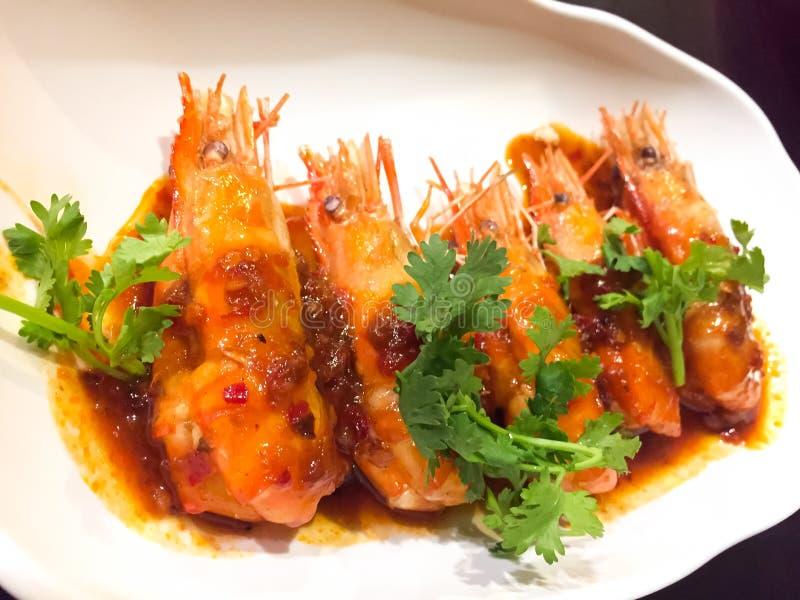 Ten menu jest Głęboko Smażącym garnelą z tamarynda kumberlandem Ja jest jeden wyśmienicie Tajlandzki jedzenie W ten naczyniu, tam zdjęcia royalty free