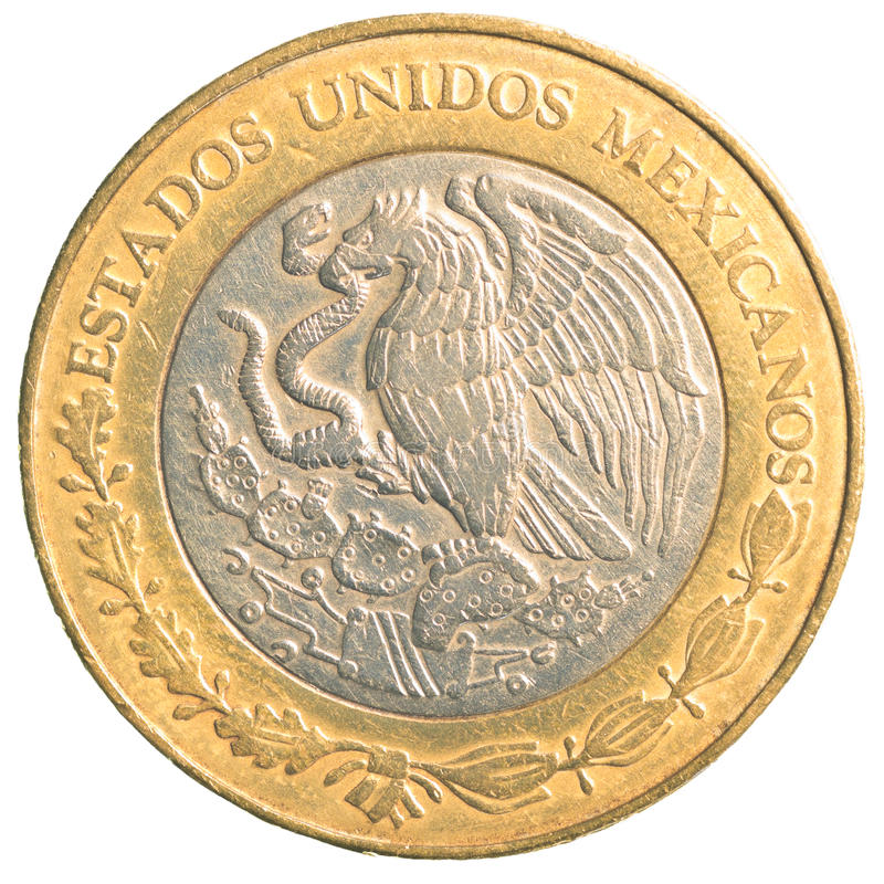 Free Ten Mexican Peso Coin Stock Images - 91498674