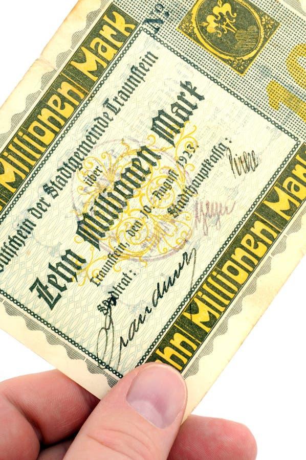 Free Ten Million Reichsmark Royalty Free Stock Image - 8988036
